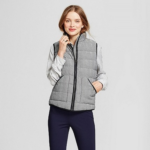 8d0c2a80237 A New Day Jackets   Blazers - NEW A NEW DAY Herringbone Quilted Puffer Vest  Zip